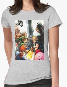 super smash bros link cloud mario kirby DK Womens Fitted T-Shirt