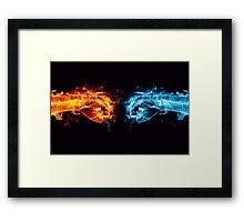 Fist Bump Framed Print