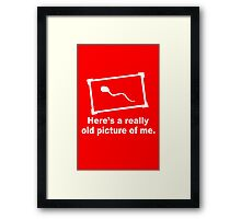 Really Old Picture funny nerd geek geeky Framed Print