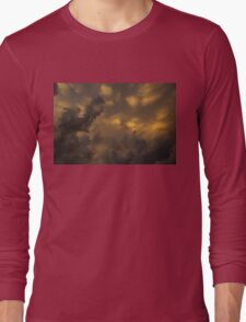 Storm Clouds Sunset - Ominous Grays and Yellows Long Sleeve T-Shirt