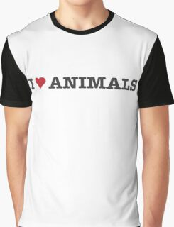 I Love Animals Graphic T-Shirt