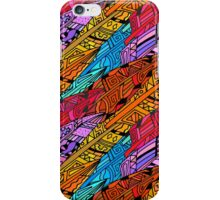 Colorful Tribal Feather Pattern iPhone Case/Skin