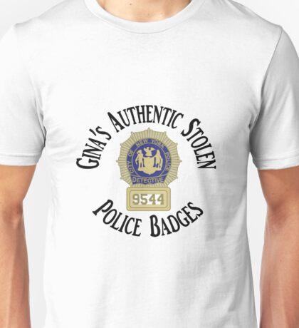 Gina's Authentic Stolen Police Badges Unisex T-Shirt