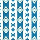 Blue And White Triangles  by bekkalily