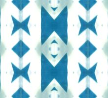 Blue And White Triangles  Sticker