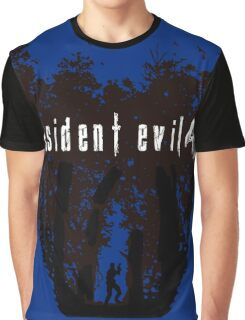 RE4 Transparent European Box Art Style Graphic T-Shirt