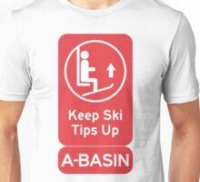 Ski Tips Up! It's time to ski! A-Basin! Unisex T-Shirt