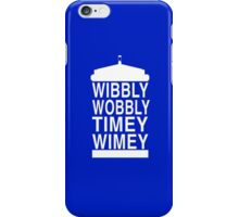 Wibbly Wobbly Timey Wimey - Doctor Who iPhone Case/Skin