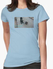 Cute Dogs Womens Fitted T-Shirt