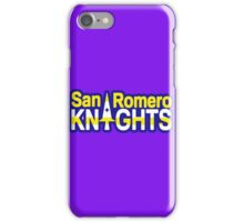 San Romero Knights With Purple Outline iPhone Case/Skin