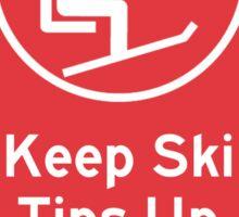 Ski Tips Up! It's time to ski! Vail! Sticker