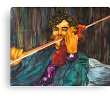 Sherlock and the Violin Canvas Print