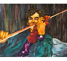 Sherlock and the Violin Photographic Print