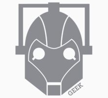 Geek Shirt #1 Cyberman (Grey) Kids Clothes
