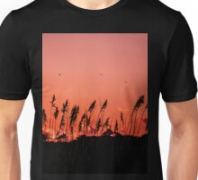 Dragonflies Over Dune Grass Unisex T-Shirt