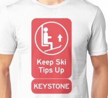 Ski Tips Up! It's time to ski! Keystone! Unisex T-Shirt