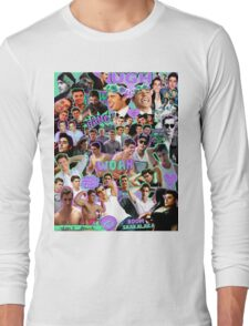 Dave Frano & Zac Efron Collage Design 2 Long Sleeve T-Shirt