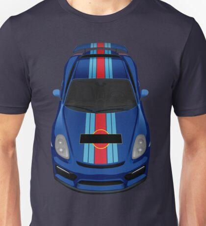 porsche cayman gt4 martini blue Unisex T-Shirt
