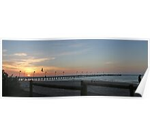 Sunset over Frankston Pier Poster