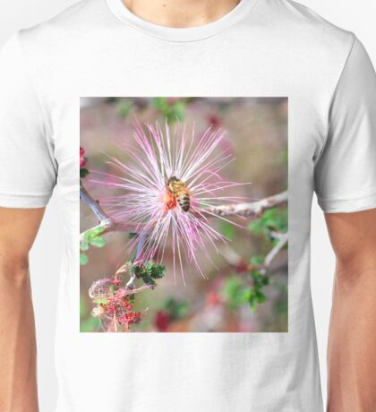 Mexican Fairy Duster with Bee Unisex T-Shirt
