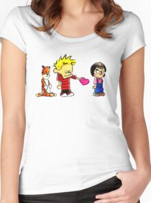 Calvin Hobbes Love Women's Fitted Scoop T-Shirt