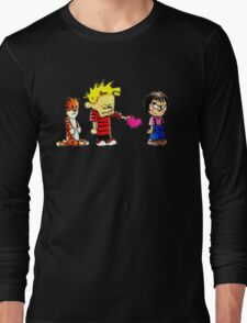 Calvin Hobbes Love Long Sleeve T-Shirt