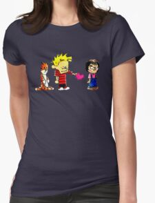 Calvin Hobbes Love Womens Fitted T-Shirt