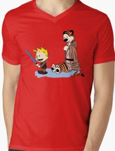 Calvin & Hobbes Wars Mens V-Neck T-Shirt