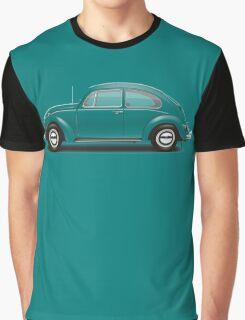 1967 Volkswagen Beetle Sedan - Java Green Graphic T-Shirt
