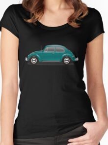 1967 Volkswagen Beetle Sedan - Java Green Women's Fitted Scoop T-Shirt