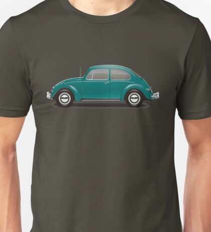 1967 Volkswagen Beetle Sedan - Java Green Unisex T-Shirt