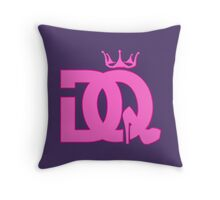 Drama queen logo Throw Pillow