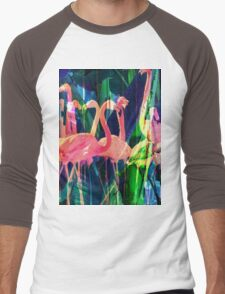 Flamingo Dance Men's Baseball ¾ T-Shirt