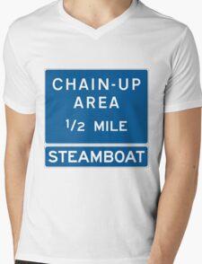 Chain Up! - Steamboat Mens V-Neck T-Shirt