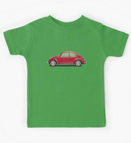 1968 Volkswagen Beetle Sedan - Royal Red Kids Tee