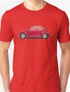1968 Volkswagen Beetle Sedan - Royal Red Unisex T-Shirt