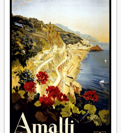 Vintage Amalfi Coast Italia Travel Sticker