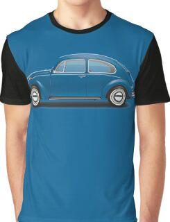 1968 Volkswagen Beetle Sedan - VW Blue Graphic T-Shirt