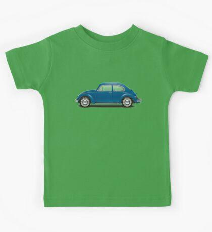 1968 Volkswagen Beetle Sedan - VW Blue Kids Tee