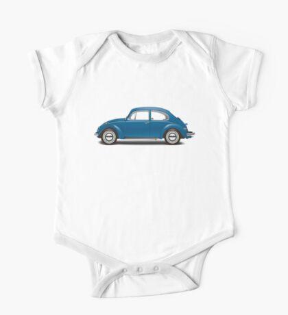 1968 Volkswagen Beetle Sedan - VW Blue One Piece - Short Sleeve