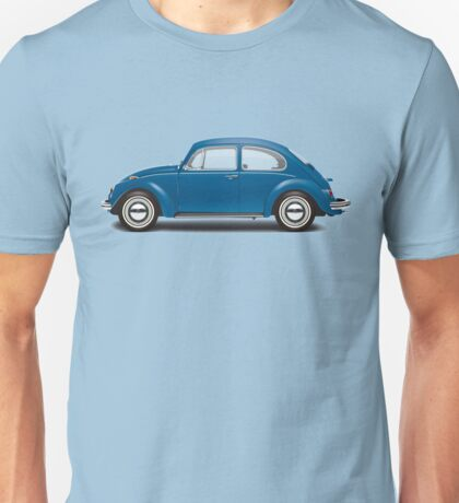 1968 Volkswagen Beetle Sedan - VW Blue Unisex T-Shirt