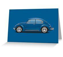 1968 Volkswagen Beetle Sedan - VW Blue Greeting Card