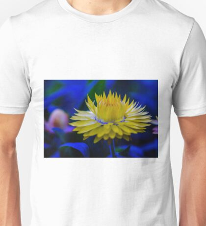Yellow Strawflower with a crown Unisex T-Shirt