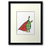 Super Turtle To The Rescue Framed Print
