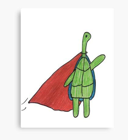 Super Turtle To The Rescue Canvas Print