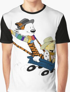 Calvin Hobbes Doctor Who Graphic T-Shirt
