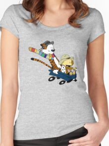 Calvin Hobbes Doctor Who Women's Fitted Scoop T-Shirt