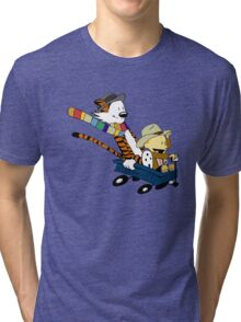 Calvin Hobbes Doctor Who Tri-blend T-Shirt