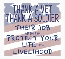 THANK A VET THANK A SOLDIER Baby Tee
