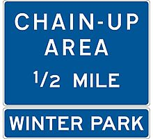 Chain Up! - Winter Park/Mary Jane! Photographic Print